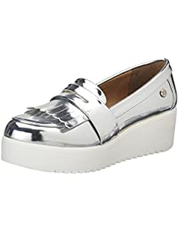 Xti Silver Mirror Pu Ladies Shoes - Mocassins (loafers) - Femme
