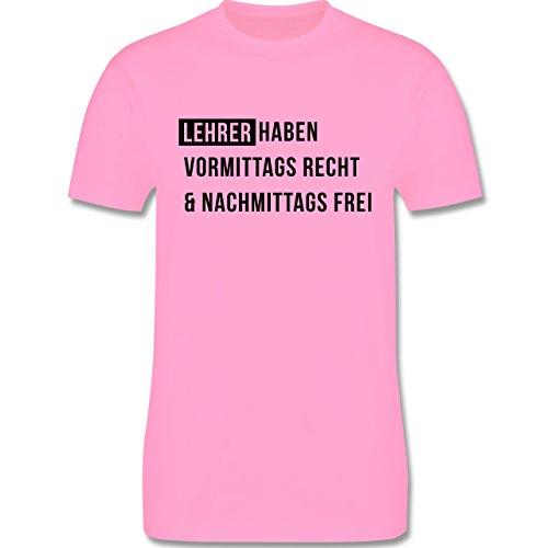 Lehrer - Vormittags Recht & nachmittags frei - Herren Premium T-Shirt Rosa