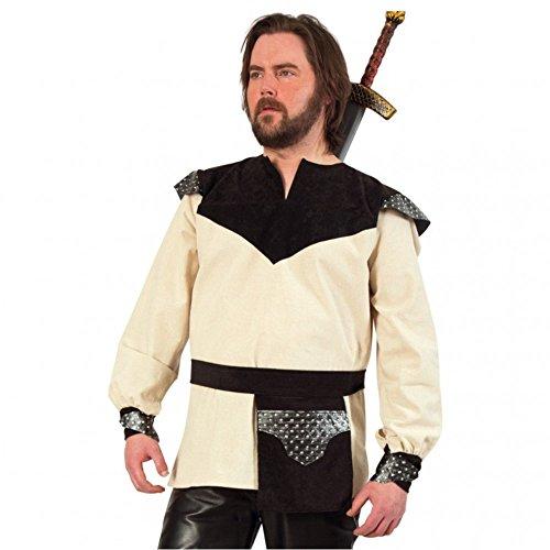 Mittelalter Kostüm Sir Georg Oberteil Gürteltasche Fasching LARP Kleidung (XXL)