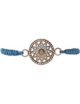 Traumfänger TFBS01ROPB Damen Armband Stern Stoff blau rosé 28,5 cm