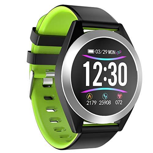 CAOQAO - Moda Reloj Inteligente Moderno Android iOS Deportes Fitness Calorías Muñequeras Reloj Inteligente