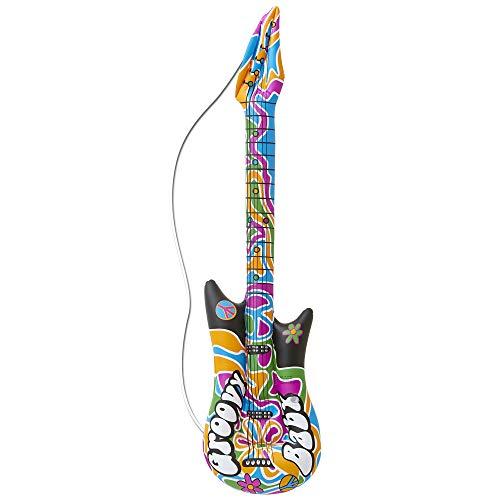 WIDMANN 04816 Aufblasbare Gitarre Groovy Unisex– Erwachsene Mehrfarbig Fits Most, One ()