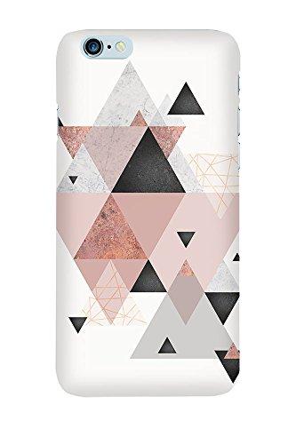 artboxONE Premium-Handyhülle iPhone 5/5S/SE Geometric Arrangement in Blush - Geometrie - Smartphone Case mit Kunstdruck hochwertiges Handycover kreatives Design Cover von Linsay Macdonald Premium Case