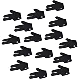 MagiDeal 15 Pieces Black Stretchy Pool Cue 3 Finger Glove Snooker Billiard Accessory