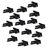 #6: MagiDeal 15 Pieces Black Stretchy Pool Cue 3 Finger Glove Snooker Billiard Accessory