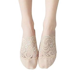 Frauen 1 para socken weibliche spitzensocken Baumwolle floral Mischung Spitze Rutschfeste unsichtbare Low Cut socken Toe söckchen Spring Moonuy
