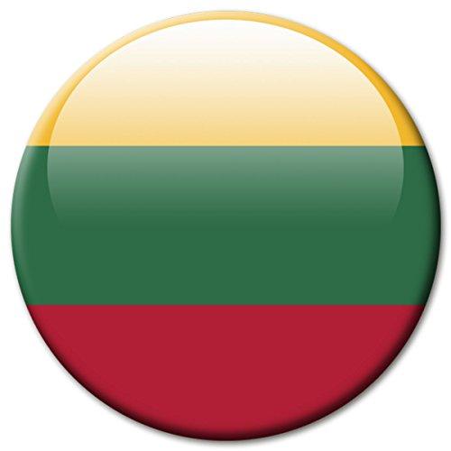 lagge Litauen Magnet Länder Flaggen Reise Souvenir für Kühlschrank stark groß 50 mm ()
