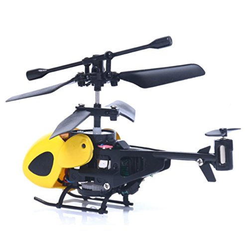 RC 5012 2CH Mini RC Helicopter Radio Remote Control Plane Micro 2 Channels by ASHOP (Yellow)