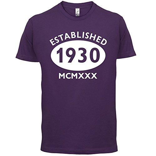 Gegründet 1930 Römische Ziffern - 87 Geburtstag - Herren T-Shirt - 13 Farben Lila
