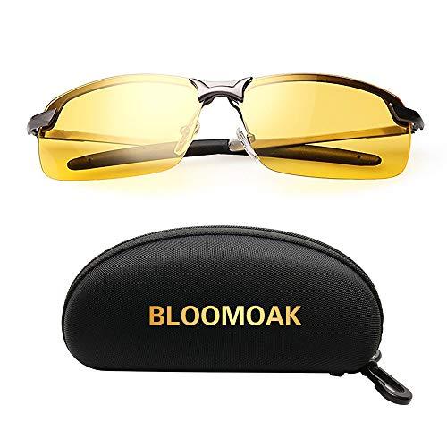 Nachtsichtbrille | Blendschutz Nachtfahrbrille - HD Halbrand / Polarisiert / Ultra Light Metall / Gewidmet Nachtbrille