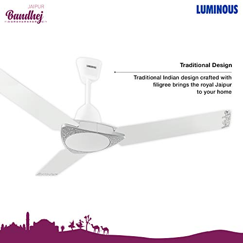 Luminous Jaipur Bandhej 1200mm Ceiling Fan (Malabar Silver)