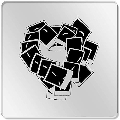 Azeeda 6 x 'Polaroid Herz' Klar Untersetzer (CR00063881)