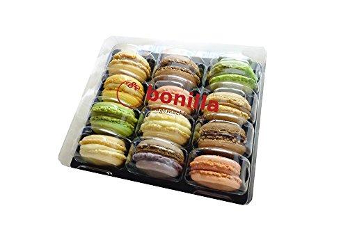 Frische Macarons Bonilla - Schachtel mit 12 Macarons, ohne Zusatz- & Konservierungsstoffe, glutenfrei