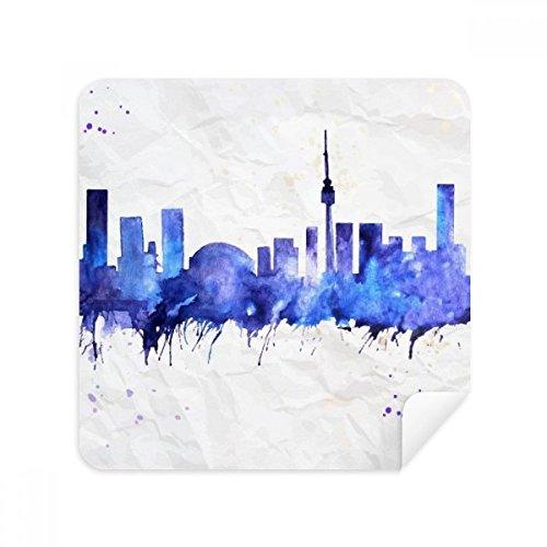 DIYthinker Kanada Zeichen der Stadt Aquarell Blau Brille Reinigungstuch Telefon Screen Cleaner Suede Fabric 2Pcs