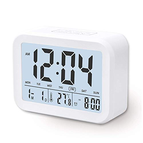 Arespark Despertador Digital Electrónico, Reloj Despertador con Alarma Luz de Noche, Pantalla...