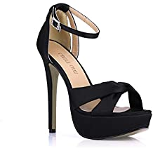 4b929f660c2 CHMILE Chau-Zapatos para Mujer-Sandalias de Tacon Alto de Aguja-Elegantes-