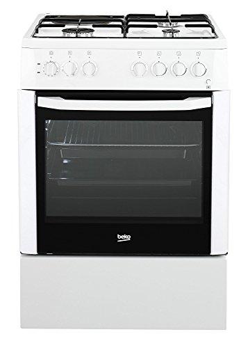 Beko FSS63110DWCS Autonome Combi A Blanc four et cuisinière - Fours et cuisinières (Cuisinière, Blanc, Rotatif, Devant, Combi, acier émaillé)