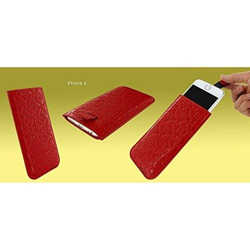 Piel Frama 680COY PIELFRAMA 680COY Pull Case Crocodile für Apple iPhone 6 in gelb Rot, Kroko-Optik