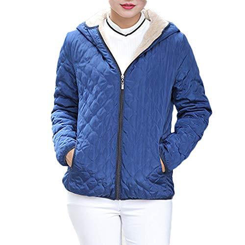 sunnymi Frauen Warme Mantel mit Kapuze Kapuzenjacke Slim Winter Parka Outwear Mäntel