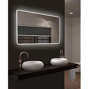 LED Badspiegel Talos Moon 120x70 cm- Lichtfarbe 4200K - Modernes Design und hochwertige Beschichtung