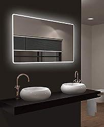 glasshop24 Badezimmer-Spiegel Wandspiegel Bad-Spiegel Silber Spiegel ohne Rahmen Spiegel zum Aufh/ängen Hochglanzpolierte Kanten BxH 40x60 cm