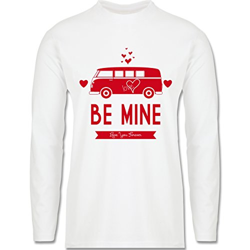 Statement Shirts - Love Me Mine Bus T1 - Longsleeve / langärmeliges T-Shirt für Herren Weiß