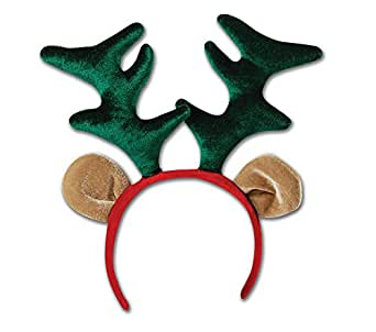 Reindeer Headband Ears Head Boppers Rudolph Xmas Christmas Fancy Dress
