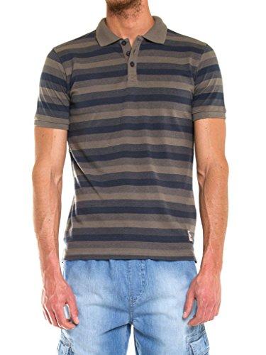 Carrera Jeans - Polohemd 824R0075A für mann, regular fit, kurzarm H05 - Garngefärbtes, Gestreiftes, Grün-Grau-Graues Melange