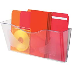 Deflect-o A4 Landscape Literature File Wall Pocket - Transparent