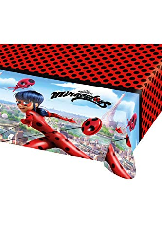 Tischdecke * MIRACULOUS * für eine Mottoparty oder Kindergeburtstag // von Amscan // Ladybug Marienkäfer Superheld Party Geburtstag Table Cover