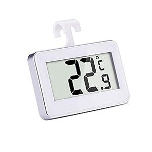Digitales drahtlosesKühl-/ Gefrierschrankthermometer und Innen Temperatur Monitor, Weiß