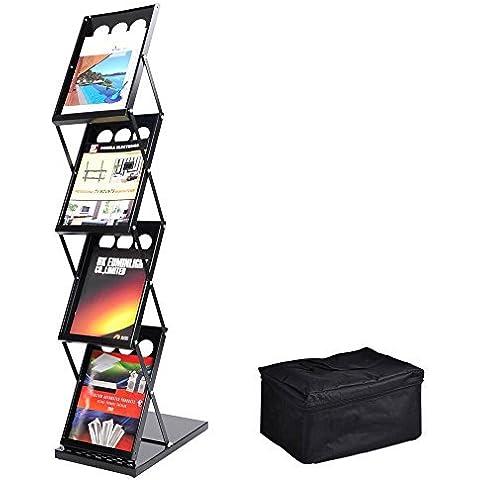 MegaBrand 4 Pocket Folding Literature Rack Brochure Stand Display Holder by MegaBrand