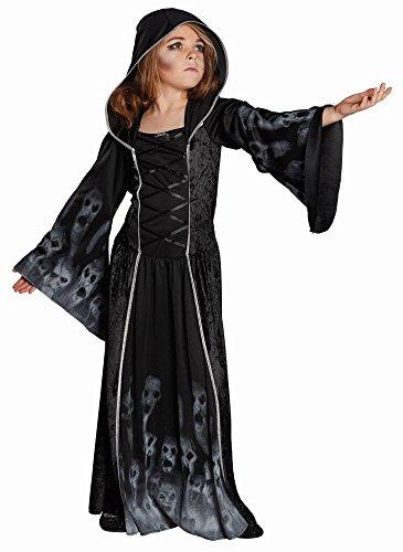 Kinder Kostüm Totenkopf Geister Dämonin Untote Halloween Gr.140