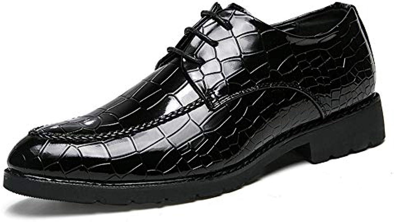 Xiazhi-scarpe, Scarpe da Uomo d'Affari da Uomo, Scarpe da Ufficio in Pelle verniciate morbide Stile Casual (Coloree...   Beautiful    Scolaro/Signora Scarpa