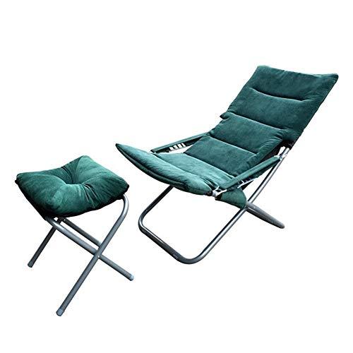 QIDI Chaise Pliante, Chaise de Pause déjeuner, Chaise Sieste, Chaise de Plage, transat, Chaise Longue, Ajustement Pliable à Quatre dossiers Hiver été Bureau à Double Usage
