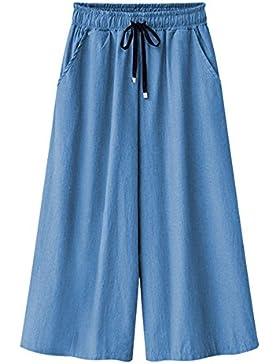 Pantalones Anchos Con Cordón Par