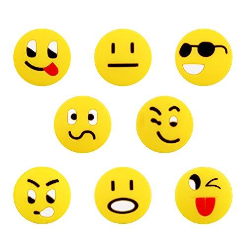 mpfen Silikon Emoji-Face Stoßdämpfer (8Stück) (Kürbis Glückliche Gesichter)