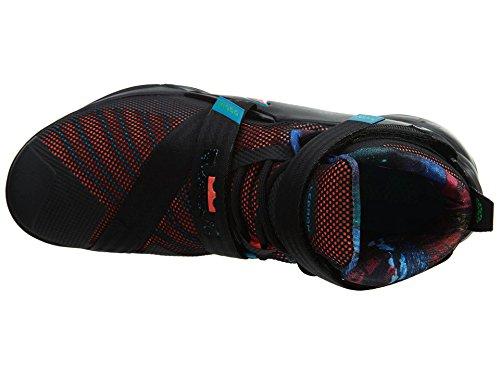 Nike Lebron Soldier Ix, Chaussures de Sport-Basketball Homme Multicolore - Negro / Naranja / Azul (Blk / Hypr Orng-Bl Lgn-Grn Shck)