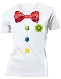 Karnevalskostüm - Faschingskostüm - Halloween - CLOWN KOSTÜM T-Shirt Femme Small - XX-Large