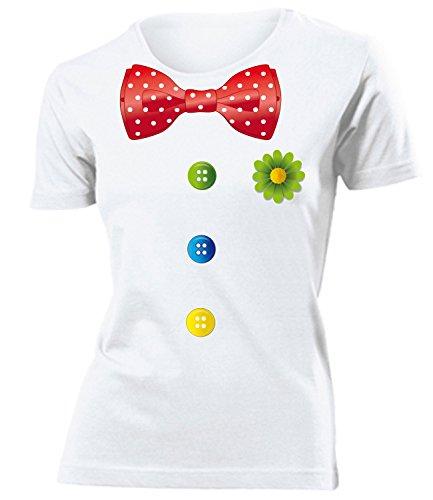 Karnevalskostüm - Faschingskostüm - Halloween - CLOWN KOSTÜM 762(F) Gr. L (Weiß Halloween-kostüm T-shirt)