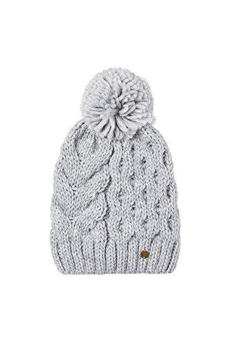 Esprit Accessoires Damen Strickmütze 107EA1P004 Grau (Grey 030), One Size (Beanie Womens Knit Cable)