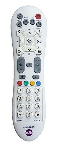 Videocon D2H Slim Design Remote for SD Set Top Box (White, KUNHAR-VID101)