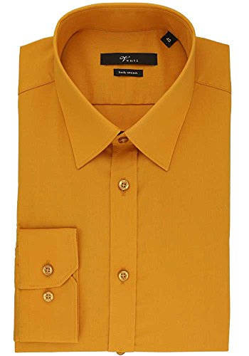 VENTI Body Stretch Hemd Langarm Uni Popeline ocker 001470/503 (Herren-stretch-popeline-hemd)