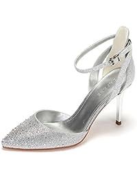 Zapatos De Mujer Zapatos De Tacón Alto Rhinestones Zapatos De Tacón Fino Zapatos De Tacón Alto con Hebilla Elegante
