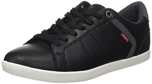 Levi's Herren Loch Derby Sneakers, Schwarz (Regular Black), 44 EU - Top Schuhe Levis High