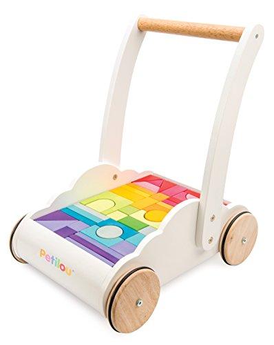 Petilou Le Toy Van Andador de Madera arcoíris