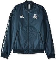 Adidas Men's Real Madrid Anthem Jacket, Multicolour (Tech Onix), Small-DP