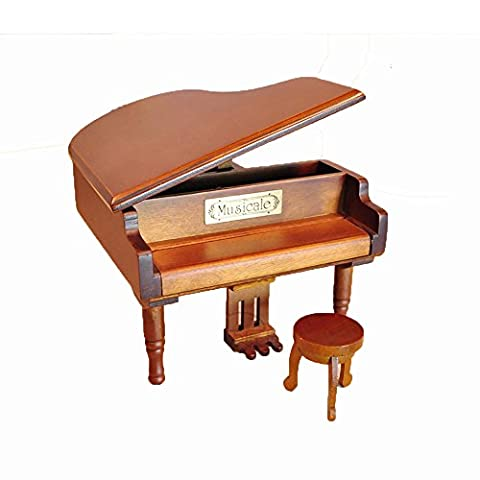 Laxury Antique Vintage Wind up Wooden Music Box Musical Piano Play Always with Me of the Spirited Away, Different Color Available