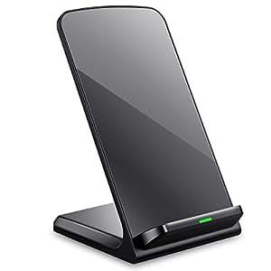 Seneo chargeur sans fil, 3bobines Qi, support de charge pour tous les appareils compatibles Qi–Noir