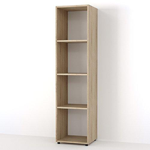 VICCO Raumteiler LUDUS 4 Fächer 142 x 36 cm - Standregal Hängeregal Regal TV Lowboard Sideboard Bücherregal (Eiche Sonoma)